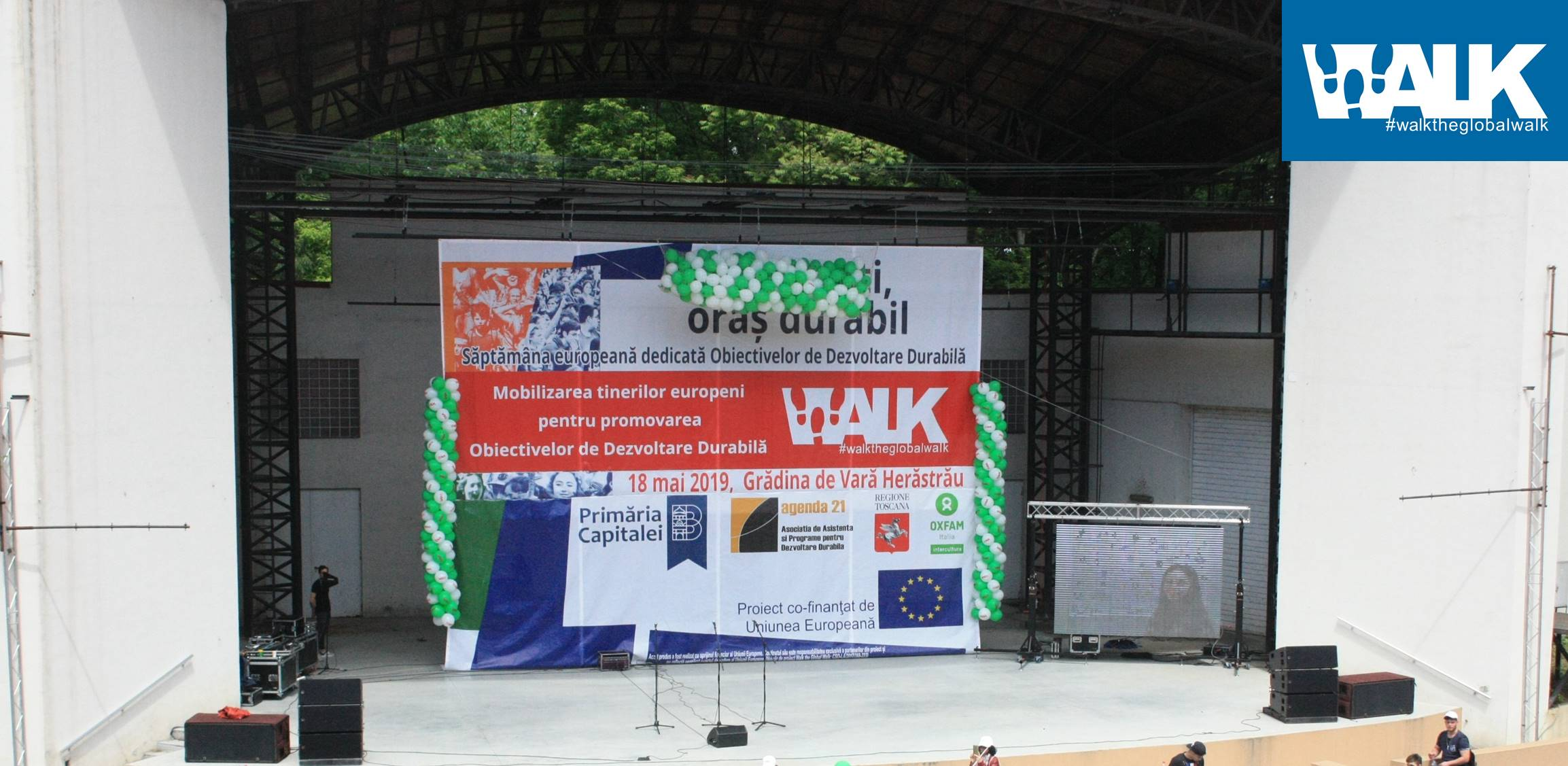 Twelve high schools and elementary schools from Bucharest supported during last weekend the sustainable path of the city within the Walk the Global Walk project