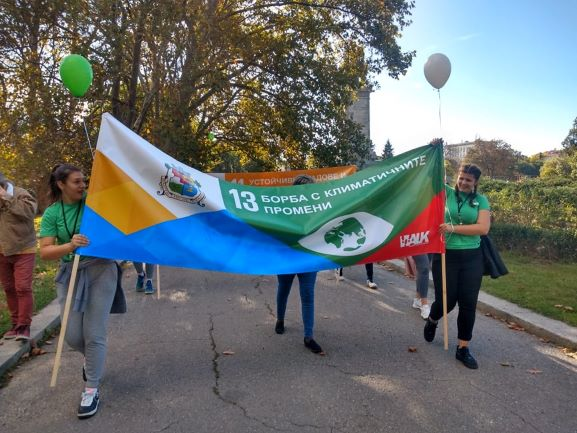 Bulgaria: 200 students from Sofia took part in The Global March in Support of Climate Change